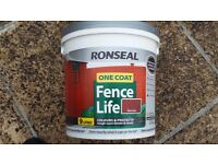 Ronseal One Coat Fence Life Red Cedar 9 Litre Tubs