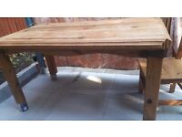 Solid Wood Table With 5 Chairs £70