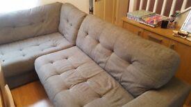 Harveys Grey Fabric Corner Sofa