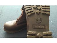 Mens Timberland Boots Brown Leather Size 8