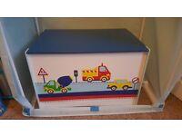 Boys kids bedroom furniture wardrobe storage toy box transport cars