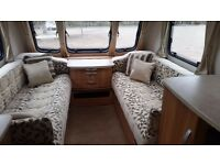 Lunar Clubman CK. Touring Caravan - used (2013). Luxury 2 Berth