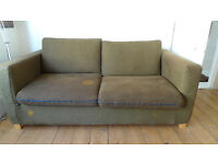 Sofa Bed - Brown 180cm wide