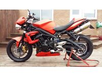 Triumph street triple R, 2010, low miles