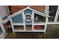 Rabbit or guinea pig hutch house