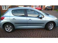 Peugeot 207 1.4 verve 5dr, Only 52000 miles, MOT until 30/10/18, 2 Keys, Remote Central Locking