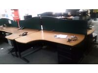 Sale of L-Shaped Desks, Tables, Chairs, Nice Metal Storage Cabinets and Drawer Packs