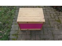 Purple Wooden Toy Box with reversible colour sides