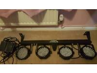 Led v2 party bar good condition with foot Controller included!
