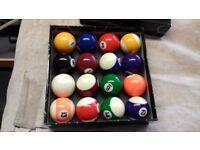 Pool balls - new set