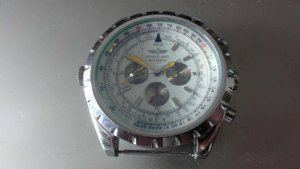 New Rare Breitling For Bentley 1884 Automatic Mens Watch In White Faulty Spares Or Repairs In Cwmbran Torfaen Gumtree