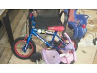 kids bike and toy, £2 each individual item.
