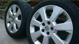 """17"""" Vauxhall Vectra Alloys 5 x 110 Paintwork Mint"""