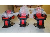 Barber Adjustable Reclining Hydraulic Salon Hair Cutting Shaving & Tattoo Chair FROM £15