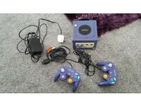 NINTENDO GAMECUBE AND 2 CONTROLLERS FOR SALE