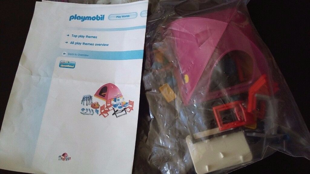 Playmobil 7260 tent and camping equipment.