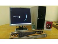 "HP XW4300 Workstation Computer Desktop PC & HP 17"" LCD"