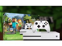 xbox one S, Minecraft edition. Brand new with full 12 month warranty.