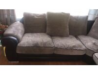 Mink Chord corner sofa for sale.needs to be picked up in Carmyle by Thursday 1st sep, Fri 2nd latest