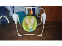 Fisher Price Rainforest Friends Cradle 'n' Swing - Excellent Condition