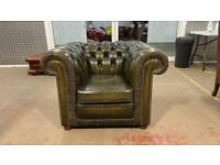 Stunning leather chesterfield club chair £295