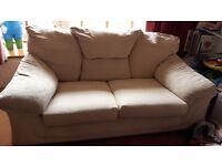 FREE to collector, TWO x two seater cream sofas