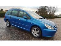 PEUGEOT 307 1.6 HDi 110 SE 5dr A Very Nice Clean Car Top Spec ** PLS READ ** (blue) 2004
