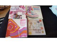 knitting pattern books and single patterns
