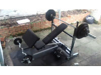 SAVE YOUR SELF THE GYM MEMBERSHIP! Full Olympic Weights Set plus bench available