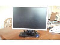 "Computer monitor, 19"" flat screen"