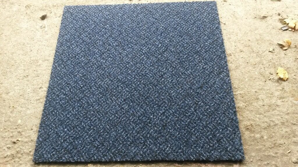 Used Blue Carpet tiles 500mm x 500mm