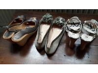 Three pairs of Unisa leather shoes size 3