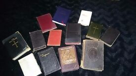 MIXED VINTAGE BIBLES AND PRAYER BOOKS
