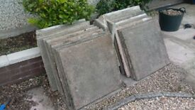 24 FREE garden paving slabs 600x600mm. Grey in colour and need a wash!