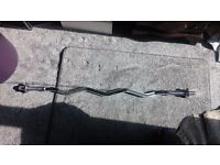 Olympic EZ Curl Bar ( for sale. In good condition and with spinlocks