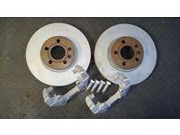 VW T4 Big Brake Upgrade Parts - Brand new 313mm Discs & Refurbished Caliper Carriers