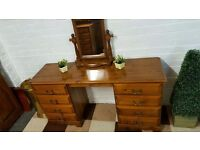 quality solid pine dressing table with vanity mirror dovetail construction