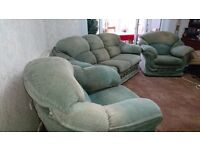 Very comfy 3 seater sofa and two chairs
