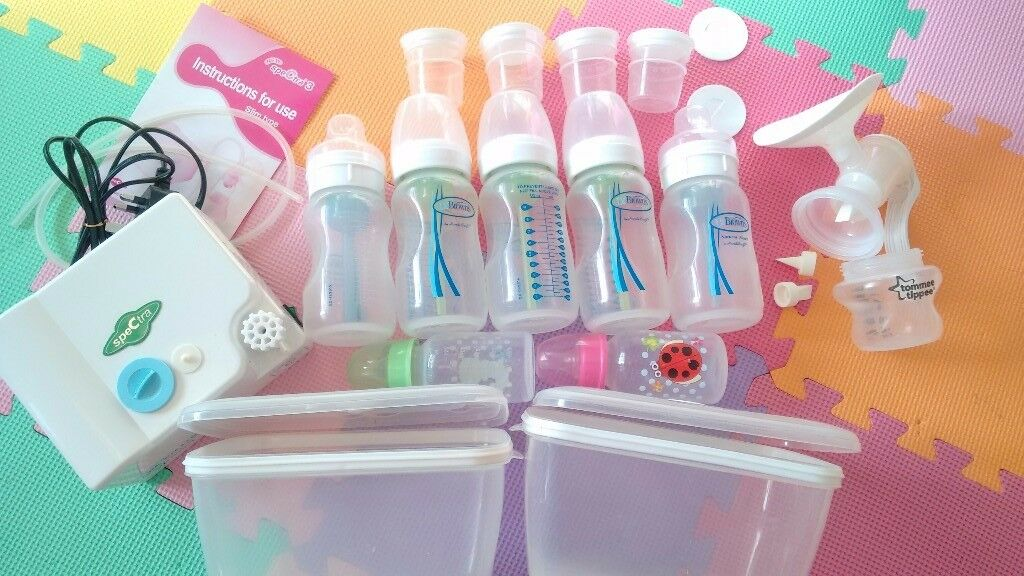 Bundle: Dr Brown Bottles, Spectra & Tommee Tippee Breast pump, travel steriliser