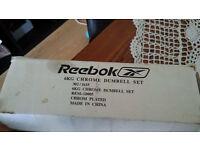 Reebok chrome dumbell set