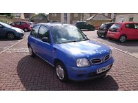 2001 Nissan Micra 1.0 16v S 3dr, Lovely car to first drive,Low mileage, cheap car.