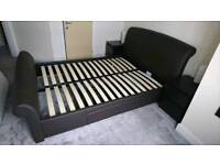 King Size Faux Leather Bed Frame