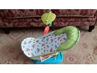Summer Deluxe Baby Bath Chair With Arm & Toys - Boy or Girl