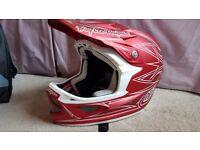 Troy Lee Designs D3 Composite Pinestripe Red II MTB Full Face Helmet XL