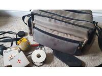 Nylon camera bag and accessories