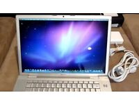 15' Silver Macbook Pro Music Production Film Production Photo Editing C2D 2.6Ghz 4GB 200GB HDD