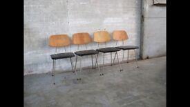 4 mid century dutch dining chairs by Rudolf Wolf