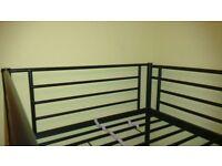 metal bunk bed (£70), 1 mattress (£20)
