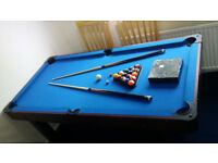 6' FOOT BCE POOL TABLE / DINING TABLE / TABLE TENNIS / PING-PONG – ALL ACCESSORIES – ON EBAY AT £450