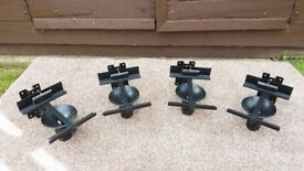 4 Black Wall Mounted Speaker Stands (Very Good Condition)